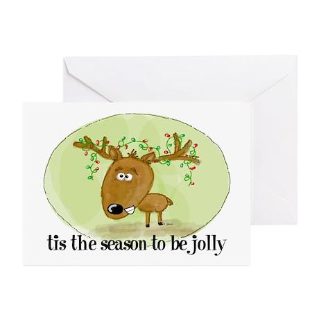 Jolly Reindeer Greeting Cards (Pk of 10)