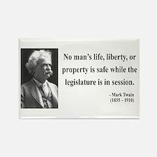 Mark Twain 39 Rectangle Magnet