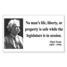 Mark Twain 39 Rectangle Decal