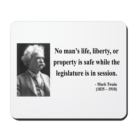 Mark Twain 39 Mousepad