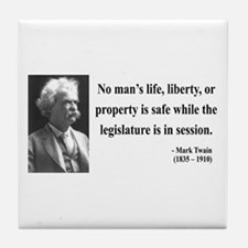 Mark Twain 39 Tile Coaster