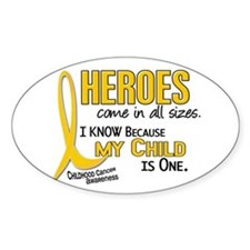 Heroes All Sizes 1 (Child) Oval Decal