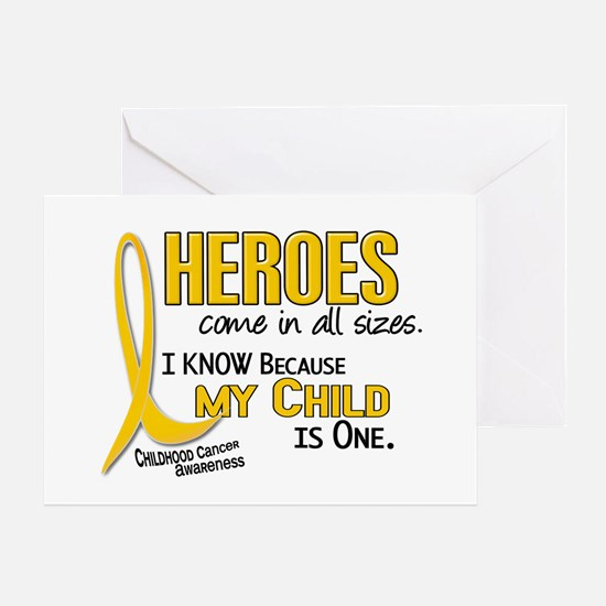 Heroes All Sizes 1 (Child) Greeting Card
