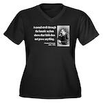 Nietzsche 4 Women's Plus Size V-Neck Dark T-Shirt