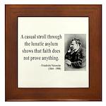 Nietzsche 4 Framed Tile