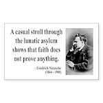 Nietzsche 4 Rectangle Sticker