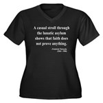Nietzsche 4 Women's Plus Size V-Neck Dark T-Shirt