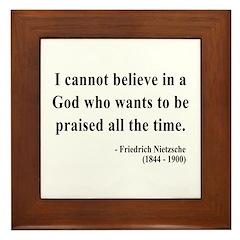 Nietzsche 5 Framed Tile