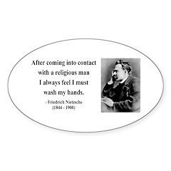 Nietzsche 6 Oval Decal
