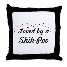 Loved By Shih-Poo Throw Pillow