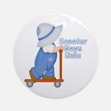 Little Scooter Boy Ornament (Round)