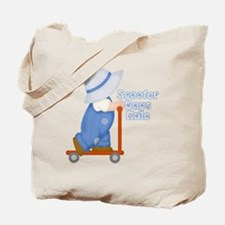 Little Scooter Boy Tote Bag