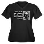 Nietzsche 11 Women's Plus Size V-Neck Dark T-Shirt