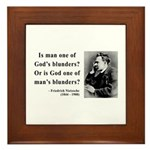 Nietzsche 11 Framed Tile