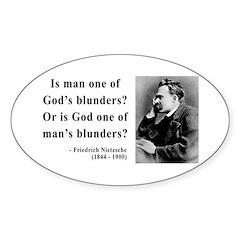 Nietzsche 11 Oval Decal