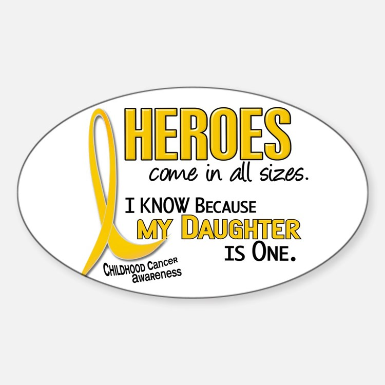 Heroes All Sizes 1 (Daughter) Oval Decal