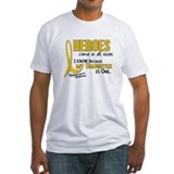 Childhood cancer awareness Fitted Light T-Shirts