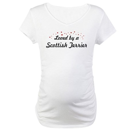 Loved By Scottish Terrier Maternity T-Shirt