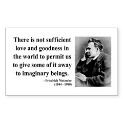 Nietzsche 28 Rectangle Decal