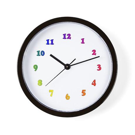 Rainbow numbers Wall Clock