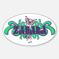 Zahara's Purple-Green Butterfly Name Decal