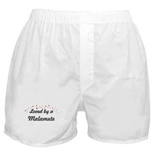Loved By Malamute Boxer Shorts