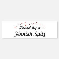 Loved By Finnish Spitz Bumper Bumper Bumper Sticker