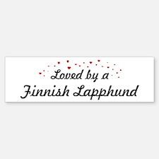Loved By Finnish Lapphund Bumper Bumper Bumper Sticker