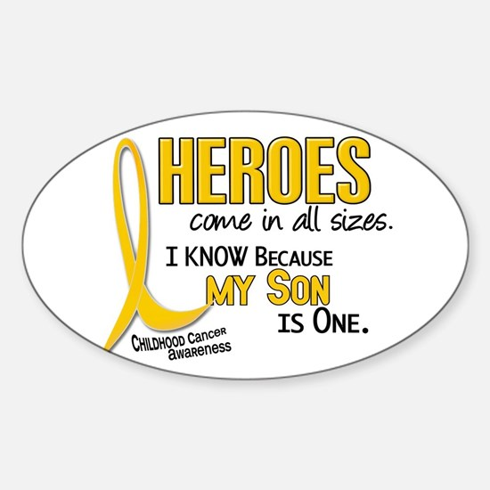 Heroes All Sizes 1 (Son) Oval Decal