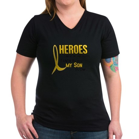 Heroes All Sizes 1 (Son) Women's V-Neck Dark T-Shi