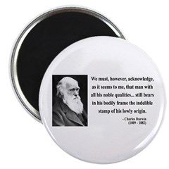 """Charles Darwin 2 2.25"""" Magnet (100 pack)"""