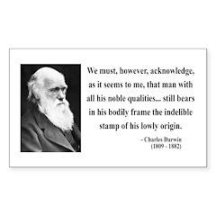 Charles Darwin 2 Rectangle Decal