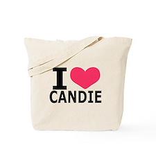 Cute I heart candy Tote Bag