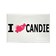 Cute Candy heart Rectangle Magnet (10 pack)