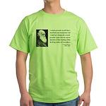 Charles Darwin 3 Green T-Shirt