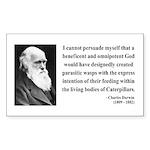 Charles Darwin 3 Rectangle Sticker