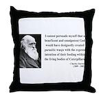 Charles Darwin 3 Throw Pillow