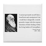 Charles Darwin 3 Tile Coaster