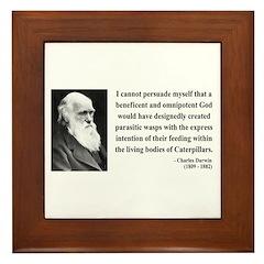 Charles Darwin 3 Framed Tile