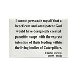 Charles Darwin 3 Rectangle Magnet (100 pack)