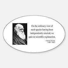 Charles Darwin 4 Oval Decal