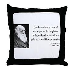 Charles Darwin 4 Throw Pillow