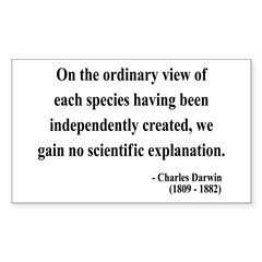 Charles Darwin 4 Rectangle Decal