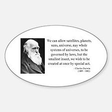 Charles Darwin 5 Oval Decal