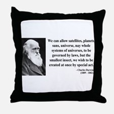 Charles Darwin 5 Throw Pillow