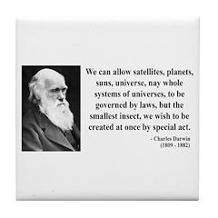 Charles Darwin 5 Tile Coaster