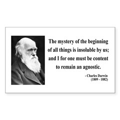 Charles Darwin 7 Rectangle Decal