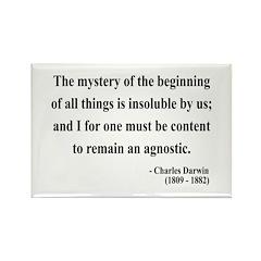 Charles Darwin 7 Rectangle Magnet