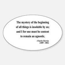Charles Darwin 7 Oval Decal