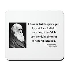 Charles Darwin 9 Mousepad